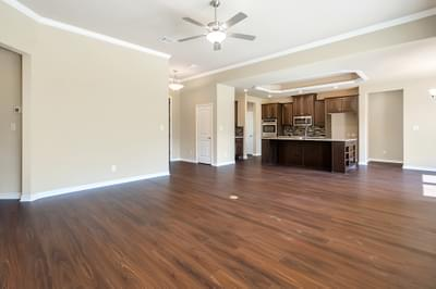 Family Room – The Angelina | Customer Home in Brazoria County – May Contain Plan Changes and Upgrades Tilson Custom Home Photo