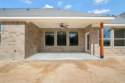 Rear Porch – The Angelina | Customer Home in Brazoria County – May Contain Plan Changes and Upgrades Tilson Custom Home Photo