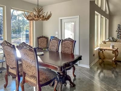 Dining Room – The Angelina | Customer Home in Liberty County – May Contain Plan Changes and Upgrades Tilson Custom Home Photo