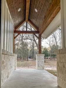 Front Covered Porch – The Angelina | Customer Home in Liberty County – May Contain Plan Changes and Upgrades Tilson Custom Home Photo
