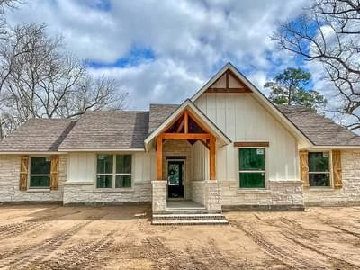 Elevation D – The Angelina | Customer Home in Liberty County – May Contain Plan Changes and Upgrades Tilson Custom Home Photo