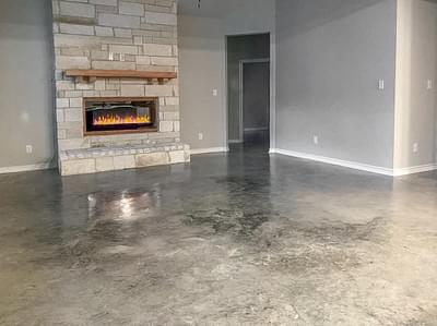 Electric Fireplace – The Angelina | Customer Home in Liberty County – May Contain Plan Changes and Upgrades Tilson Custom Home Photo