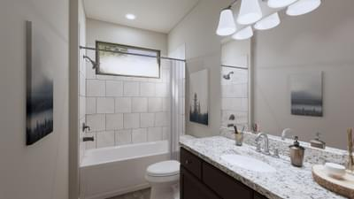 Bathroom 2 - The Abilene | Rendered Home - May Contain Upgrades and Plan Changes Tilson Custom Home Photo