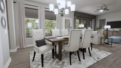 Dining Area - The Abilene | Rendered Home - May Contain Upgrades and Plan Changes Tilson Custom Home Photo