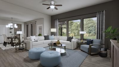 Family Room - The Abilene | Rendered Home - May Contain Upgrades and Plan Changes Tilson Custom Home Photo