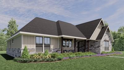 Elevation D - The Abilene | Rendered Home - May Contain Upgrades and Plan Changes Tilson Custom Home Photo