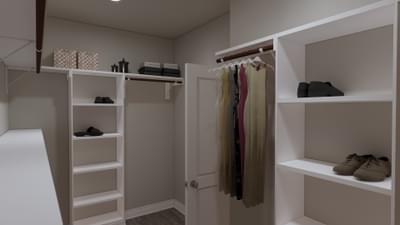 Master Closet - The Abilene | Rendered Home - May Contain Upgrades and Plan Changes Tilson Custom Home Photo