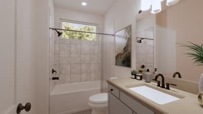 Secondary Bathroom - The Angelina | Rendered Home - May Contain Upgrades and Plan Changes Tilson Custom Home Photo