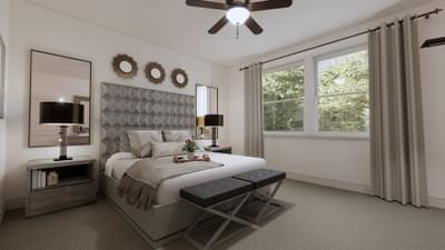 Master Bedroom - The Angelina | Rendered Home - May Contain Upgrades and Plan Changes Tilson Custom Home Photo
