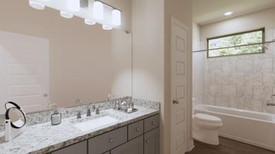 Secondary Bathroom - The Travis | Rendered Home - May Contain Upgrades and Plan Changes Tilson Custom Home Photo