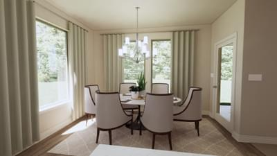 Dining Room - The Travis | Rendered Home - May Contain Upgrades and Plan Changes Tilson Custom Home Photo