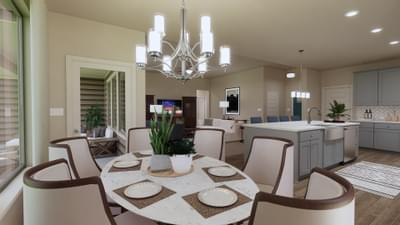 Kitchen & Dining - The Travis | Rendered Home - May Contain Upgrades and Plan Changes Tilson Custom Home Photo