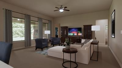 Family Room - The Travis | Rendered Home - May Contain Upgrades and Plan Changes Tilson Custom Home Photo