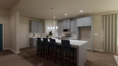 Kitchen - The Travis | Rendered Home - May Contain Upgrades and Plan Changes Tilson Custom Home Photo