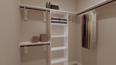 Master Closet - The Travis| Rendered Home - May Contain Upgrades and Plan Changes Tilson Custom Home Photo