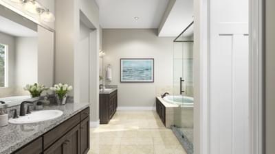 Standard Master Bathroom Rendering - La Salle Tilson Custom Home Photo