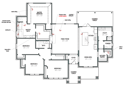 Single Store Floorplan - The Fayetteville Tilson Custom Home Photo