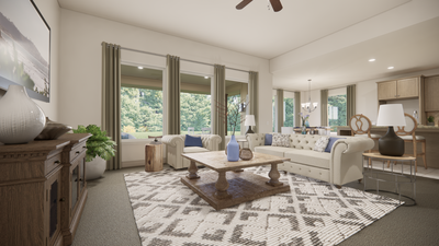 Family Room - The Livingston | Rendered Home - May Contain Upgrades and Plan Changes Tilson Custom Home Photo