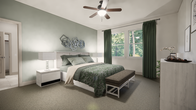 Master Bedroom - The Livingston | Rendered Home - May Contain Upgrades and Plan Changes Tilson Custom Home Photo
