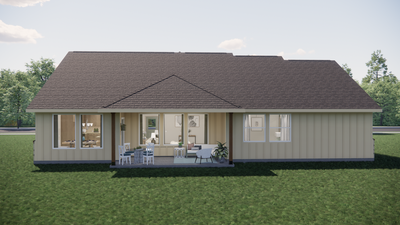 Elevation D - The Livingston | Rendered Home - May Contain Upgrades and Plan Changes Tilson Custom Home Photo