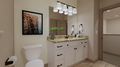 Bathroom 2 - The Cedar Creek | Rendered Home - May Contain Upgrades and Plan Changes Tilson Custom Home Photo