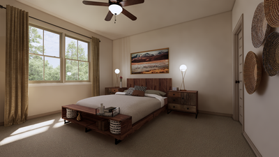 Bedroom 2 - The Cedar Creek | Rendered Home - May Contain Upgrades and Plan Changes Tilson Custom Home Photo