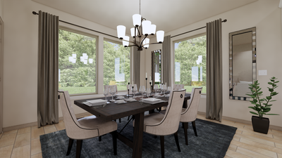 Dining Room - The Cedar Creek | Rendered Home - May Contain Upgrades and Plan Changes Tilson Custom Home Photo
