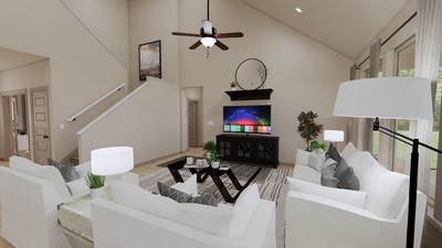 Family Room - The Cedar Creek | Rendered Home - May Contain Upgrades and Plan Changes Tilson Custom Home Photo