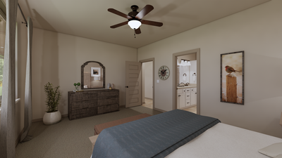 Master Bedroom - The Cedar Creek | Rendered Home - May Contain Upgrades and Plan Changes Tilson Custom Home Photo