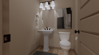 Powder Room - The Cedar Creek | Rendered Home - May Contain Upgrades and Plan Changes Tilson Custom Home Photo