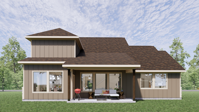 Elevation D - The Cedar Creek | Rendered Home - May Contain Upgrades and Plan Changes Tilson Custom Home Photo
