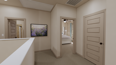 Upstairs Hallway - The Cedar Creek | Rendered Home - May Contain Upgrades and Plan Changes Tilson Custom Home Photo