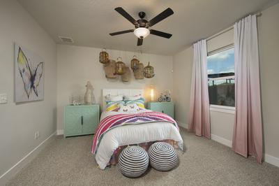 Bedroom 2 - Canyon Model in Bryan Tilson Custom Home Photo