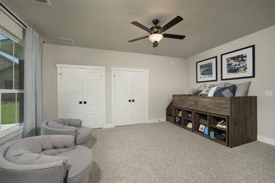 Bedroom 3 - Canyon Model in Bryan Tilson Custom Home Photo