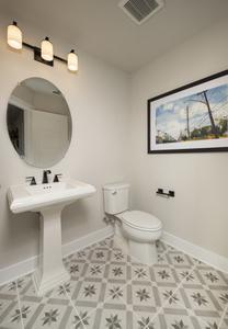 Powder Bathroom in Bonus Room - Canyon Model in Bryan Tilson Custom Home Photo