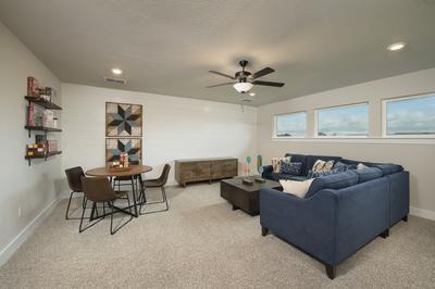 Bonus Room - Canyon Model in Bryan Tilson Custom Home Photo