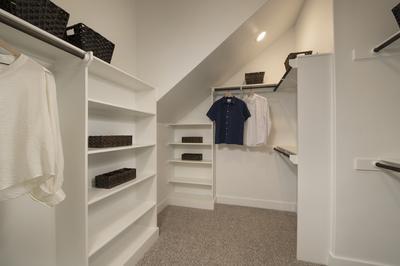 Master Closet - Canyon Model in Bryan Tilson Custom Home Photo