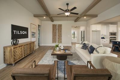 Family Room - Canyon Model in Bryan Tilson Custom Home Photo
