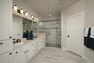 Master Bathroom - Canyon Model in Bryan Tilson Custom Home Photo