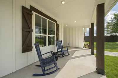 Elevation C Front Porch - Canyon Model in Bryan Tilson Custom Home Photo