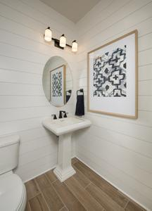 Powder Bath - Canyon Model in Bryan Tilson Custom Home Photo