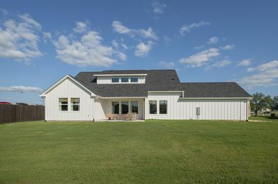 Rear Elevation C - Canyon Model in Bryan Tilson Custom Home Photo