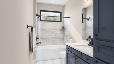 Standard Bathroom 2 - The Canyon   Rendering of Standard Layout Tilson Custom Home Photo