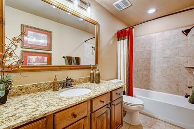 Bathroom 2 - The San Jacinto Model in Spring Design Center Tilson Custom Home Photo
