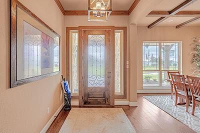 Foyer - The San Jacinto Model in Spring Design Center Tilson Custom Home Photo