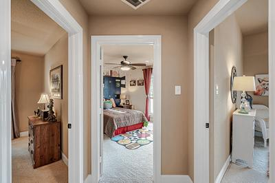 Hall 2 - The San Jacinto Model in Spring Design Center Tilson Custom Home Photo