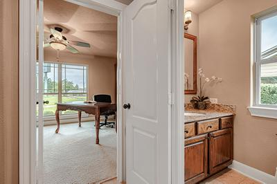 Study/Optional Bedroom - The San Jacinto Model in Spring Design Center Tilson Custom Home Photo