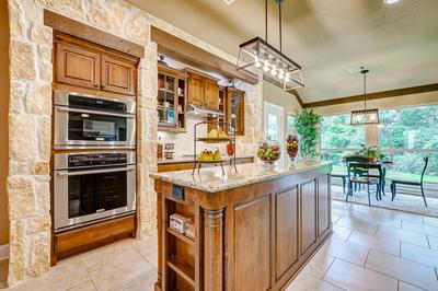 Kitchen - The San Jacinto Model in Spring Design Center Tilson Custom Home Photo