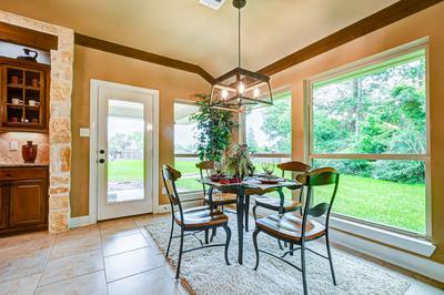 Breakfast Area - The San Jacinto Model in Spring Design Center Tilson Custom Home Photo
