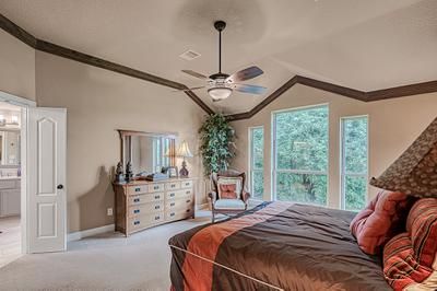 Master Bedroom - The San Jacinto Model in Spring Design Center Tilson Custom Home Photo